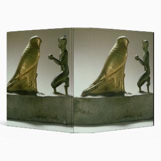 Statue of King Taharqa worshipping the falcon-god 3 Ring Binder