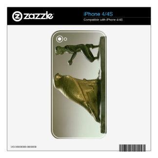 Statue of King Taharqa worshipping the falcon-god iPhone 4 Skin