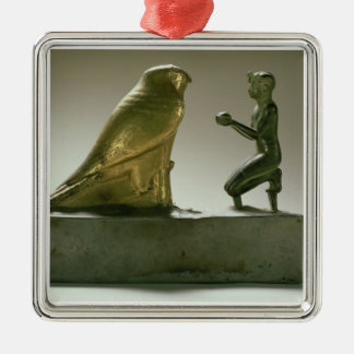 Statue of King Taharqa worshipping the falcon-god Metal Ornament