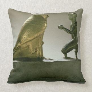 Statue of King Taharqa worshipping the falcon-god Pillows