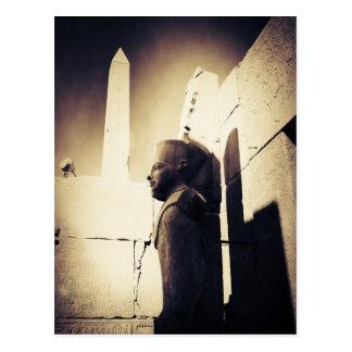 Statue of King Tut in Karnak Temple in Egypt Postcard