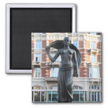 Statue of Lady Fortuna, Amsterdam 2 Inch Square Magnet