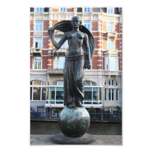 Lady Fortuna statuette, Muntplein, Amsterdam