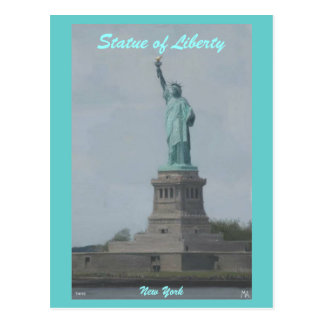 Statue of Lberty paint, Statue of Liberty, New ... Postcard