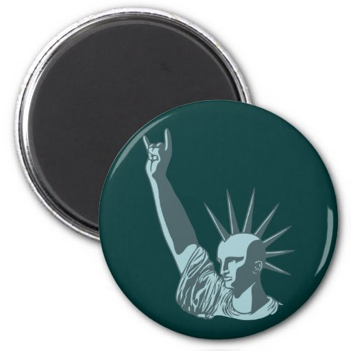 Statue of Liberal Dosage 2 Inch Round Magnet