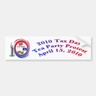 Statue of Liberty - 2010 Tax Day Tea Party Protest Car Bumper Sticker