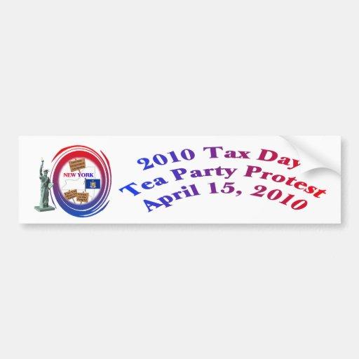 Statue of Liberty - 2010 Tax Day Tea Party Protest Car Bumper Sticker
