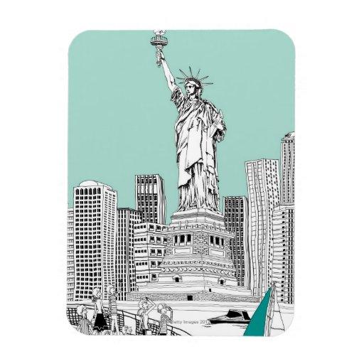 Statue of Liberty 2 Rectangular Photo Magnet