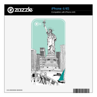 Statue of Liberty 2 Skins For The iPhone 4S