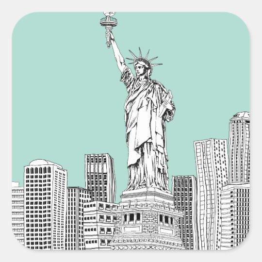 Statue of Liberty 2 Square Sticker