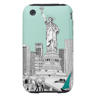 Statue of Liberty 2 Tough iPhone 3 Cover