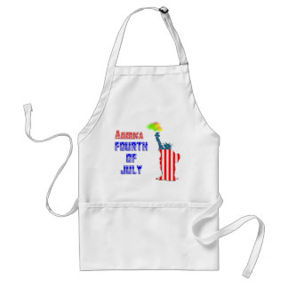 Statue of liberty 4th of July Adult Apron