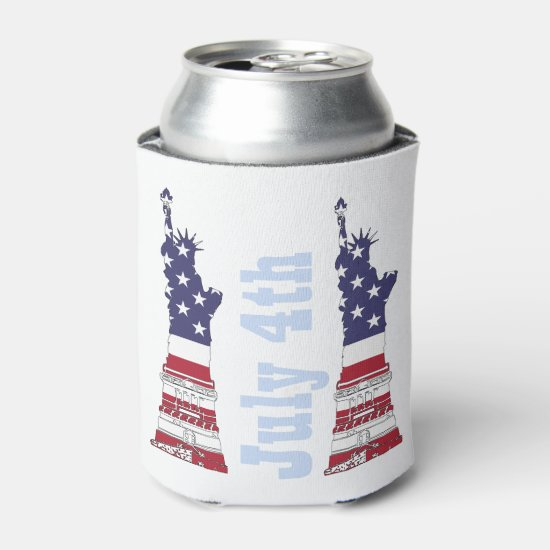 Statue of Liberty, 4th of July Can Cooler