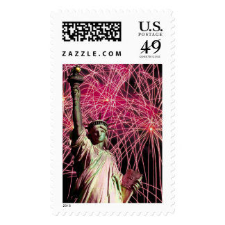 Statue Of Liberty 4th Of July Celebration Stamps