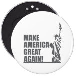 Statue of Liberty 6 Inch Round Button