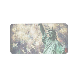 Statue of Liberty Address Label