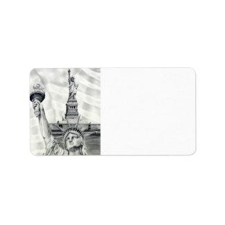 Statue of Liberty Address Labels