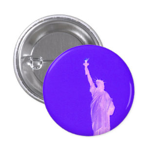 Statue of Liberty America USA Patriotic 4th July Button