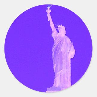 Statue of Liberty America USA Patriotic 4th July Classic Round Sticker