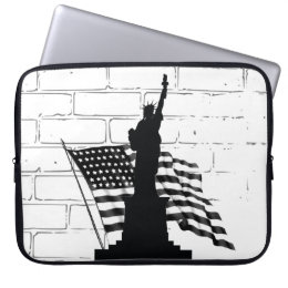 Statue Of Liberty/American Flag- Laptop Sleeve