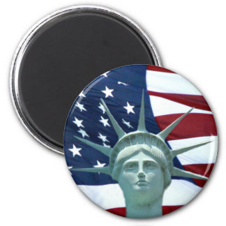 Statue of Liberty American flag Refrigerator Magnet