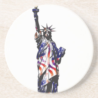 Statue Of Liberty American USA National Flag Indep Drink Coaster