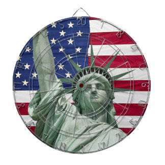Statue of Liberty and American Flag Dart Boards