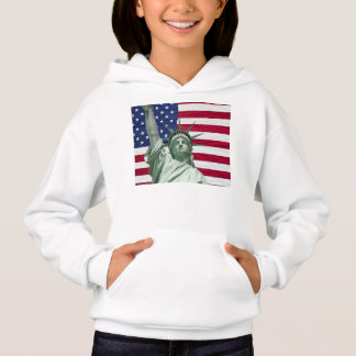 Statue of Liberty and American Flag Hoodie