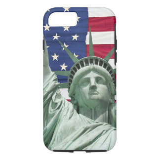 Statue of Liberty and American Flag iPhone 8/7 Case