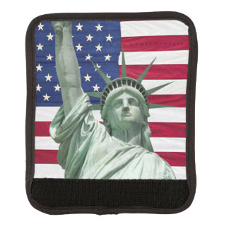 Statue of Liberty and American Flag Luggage Handle Wrap