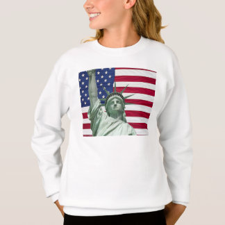Statue of Liberty and American Flag Sweatshirt