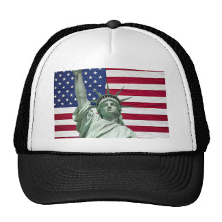 Statue of Liberty and American Flag Trucker Hat
