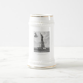 Statue of Liberty And Bartholdi Portrait Coffee Mugs