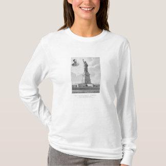 Statue of Liberty And Bartholdi Portrait T-Shirt