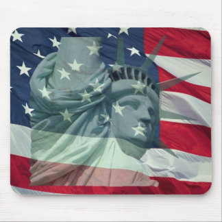 Statue OF Liberty and star & Stripes mouse PAD