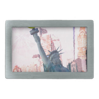 Statue of Liberty and tennnis ball Belt Buckle