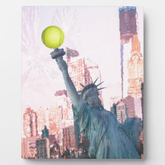 Statue of Liberty and tennnis ball Plaque