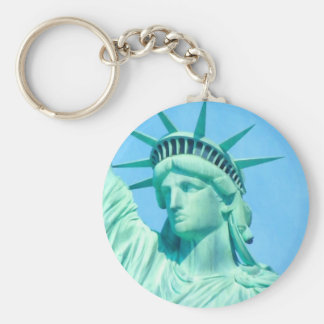 statue-of-liberty art.jpg basic round button keychain