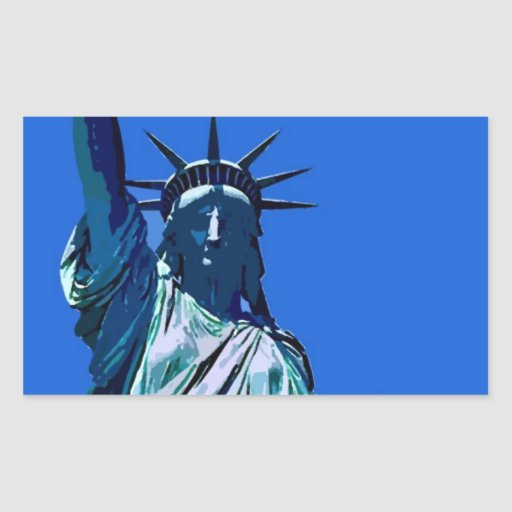 Statue of Liberty Artwork Rectangle Sticker