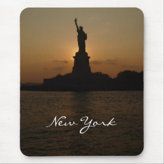 Statue of Liberty at Sunset Mouse Pad