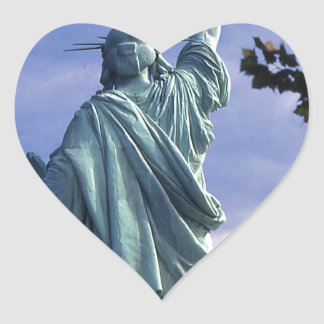 Statue of Liberty -Back View Heart Sticker