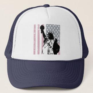 Statue Of Liberty Background Trucker Hat