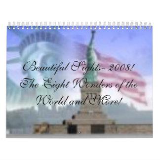 Statue of Liberty, Beautiful Sights- 2008!The E... Calendar