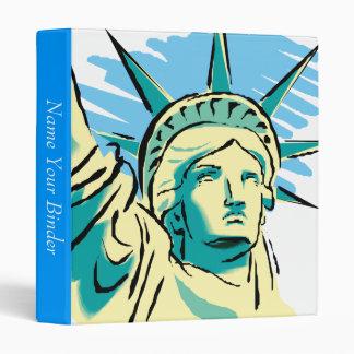 Statue of Liberty Binder 3 Ring Binder