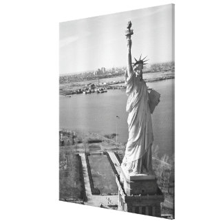 Statue of Liberty Black and White Photograph Canvas Print