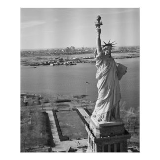 Statue of Liberty Black and White Photograph Poster