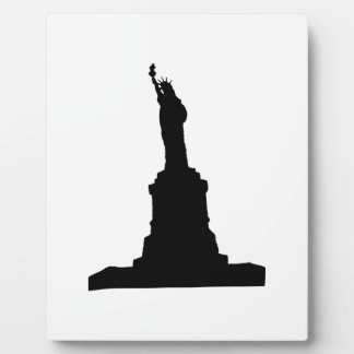 Statue Of Liberty Black Plaque