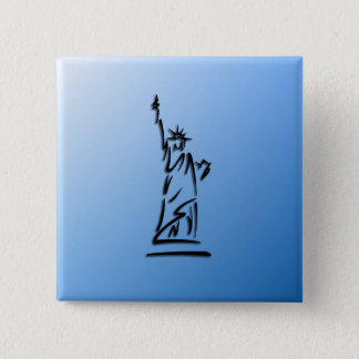 Statue of Liberty Blue Button