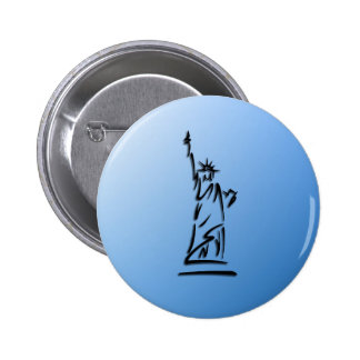 Statue of Liberty Blue 2 Inch Round Button