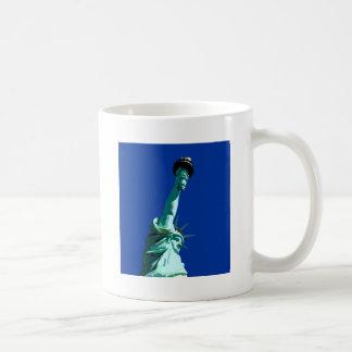Statue of Liberty & Blue Sky Classic White Coffee Mug